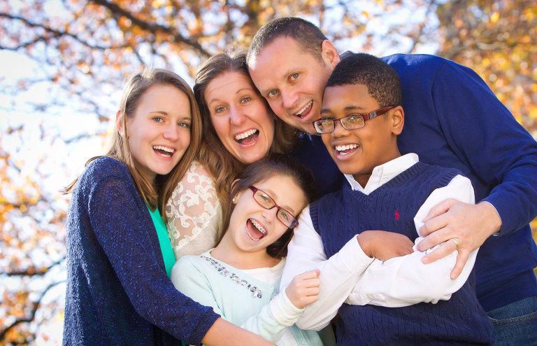 crazy family photograph