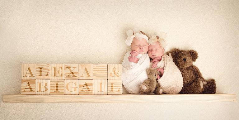 twin newborns photographer